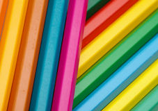 Color crayons background Stock Photography