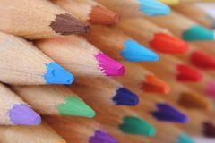 Color crayons background Royalty Free Stock Image