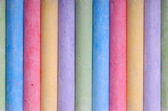 Color crayons in line Royalty Free Stock Photo
