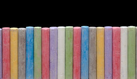 Color crayons in line Royalty Free Stock Photography
