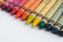 Color crayons / wax pencils macro Stock Image