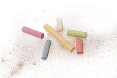 Color crayons. On white background Royalty Free Stock Photos