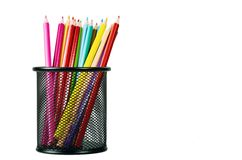 Color Creative background 05. Conceptual creative shot of colorful pencils. Great for background images Royalty Free Stock Image
