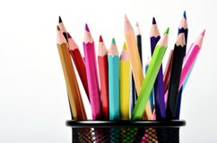 Color Creative background 08. Conceptual creative shot of colorful pencils. Great for background images Stock Images