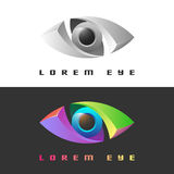 Color creative eye icon Royalty Free Stock Images