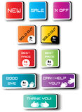 Color creative labels with text Royalty Free Stock Images