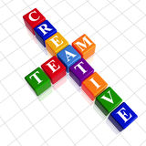 Color creative team like crossword Royalty Free Stock Images