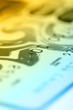 Color credit card. Shallow depth of field. Stock Photography