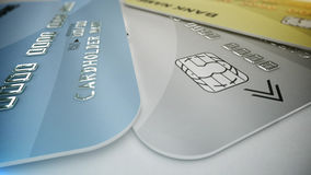 Color credit cards Royalty Free Stock Photo