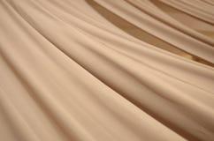 Color crema suave de la tela de seda Fotografía de archivo