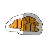 Color croissant bread icon. Illustraction design image Stock Image