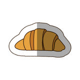 Color croissant bread icon. Illustraction design image Royalty Free Stock Photos