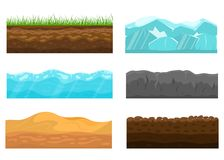 Color Cross Section of Ground Set. Vector stock illustration