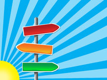 Color crossroad illustration Royalty Free Stock Photo