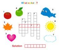 Color crossword Stock Image
