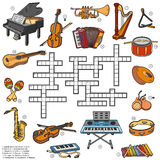 Color crossword about music instruments Stock Photo