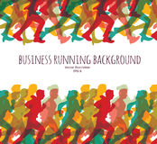 Color crowd people business run carrier background. Royalty Free Stock Images