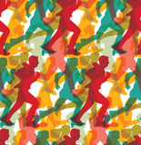 Color crowd people business run carrier seamless pattern. Royalty Free Stock Image