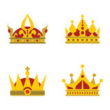 Color crown icons on white background Stock Photo