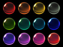 Color crystal ball with clipping path Royalty Free Stock Photo