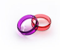 Color crystal glass ring isolated Royalty Free Stock Photo