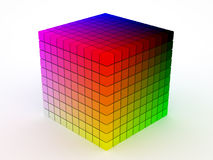 Color cube Stock Photo