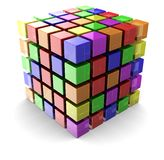 Color cube Royalty Free Stock Image