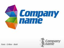 Color Cube. Logo Royalty Free Stock Photography