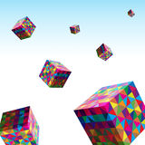 Color Cube Royalty Free Stock Photos