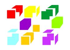Color cube Royalty Free Stock Images