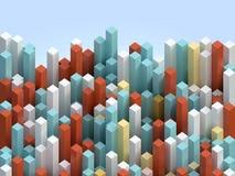 Cubic columns background Vector Illustration