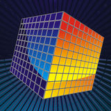 Color cube consisting of thousands of cubes in spa Royalty Free Stock Photography