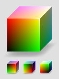 Color cube - red and green Stock Photography
