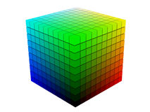 Color cube on white Royalty Free Stock Photo