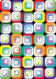 Color cubes. Abstract background with squares of different colors Royalty Free Stock Image