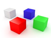 The color  cubes Stock Image