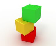 The color  cubes Royalty Free Stock Images