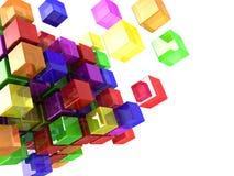 Color cubes Stock Image