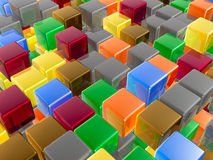 Color cubes. As abstract background Stock Photography