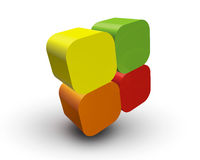 Color cubes Stock Image