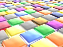 Color cubes. As abstract background, 3D illustration Stock Photos