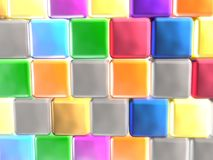 Color cubes. As abstract background, 3D illustration Stock Images