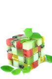 Color cubes of fruits Royalty Free Stock Photo