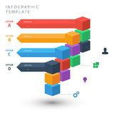 Color cubes info graphic template for presentation Royalty Free Stock Images