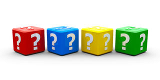 Color cubes question Stock Photography