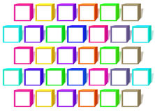 Color cubes with a white windows Royalty Free Stock Photo