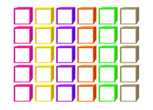 Color cubes with a white windows Stock Images