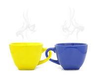 Color cup with hot drink Royalty Free Stock Images
