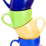 Color cups Stock Photography