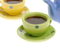 Color cups with coffee Royalty Free Stock Photography
